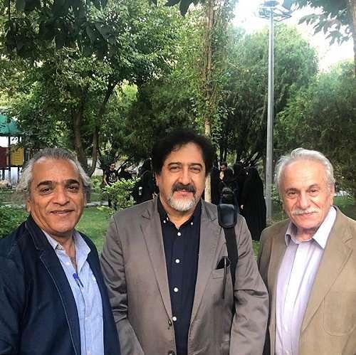 عکس حسام الدین سراج در کنار ایرج راد و اصغر همت