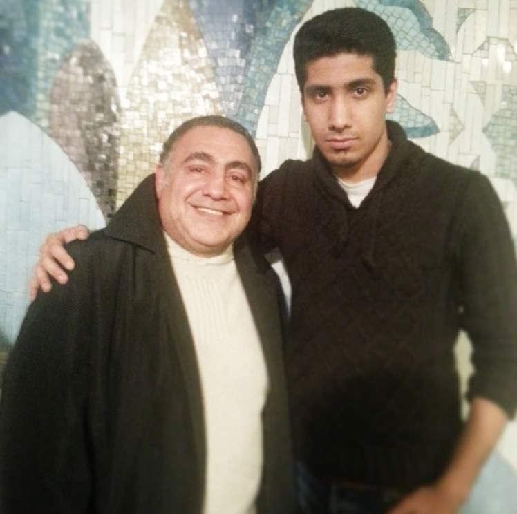 عکس خسرو احمدی و پسرش امیر احمدی