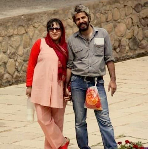عکس سلمان فرخنده و همسرش میترا مومنی