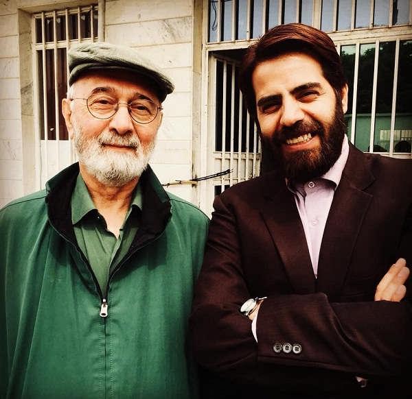 عکس سلمان فرخنده و پرویز پورحسینی در پشت صحنه سریال بچه مهندس