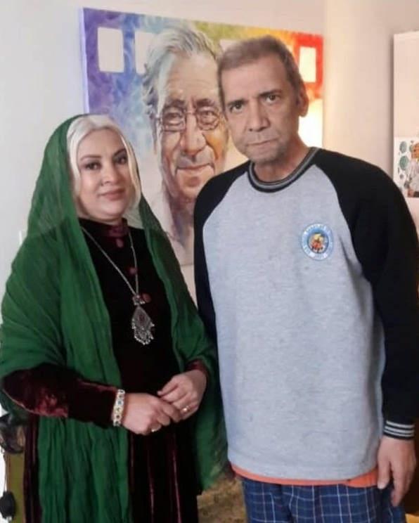 عکس فرحناز منافی ظاهر و حسین محب اهری