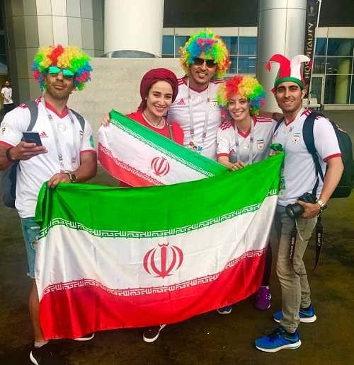 عکس های بهاره افشاری در جام جهانی روسیه 2018