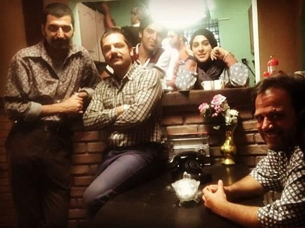 عکس های محمد صادق ملک در پشت صحنه ی سریال مینو