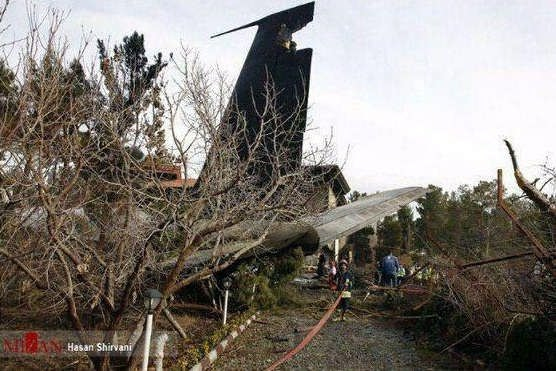 عکس سقوط هواپیما امروز؛بوئینگ ۷۰۷ ارتش
