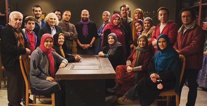 عکس فرید سجادی حسینی در پشت صحنه سریال تلویزیونی هیئت مدیره