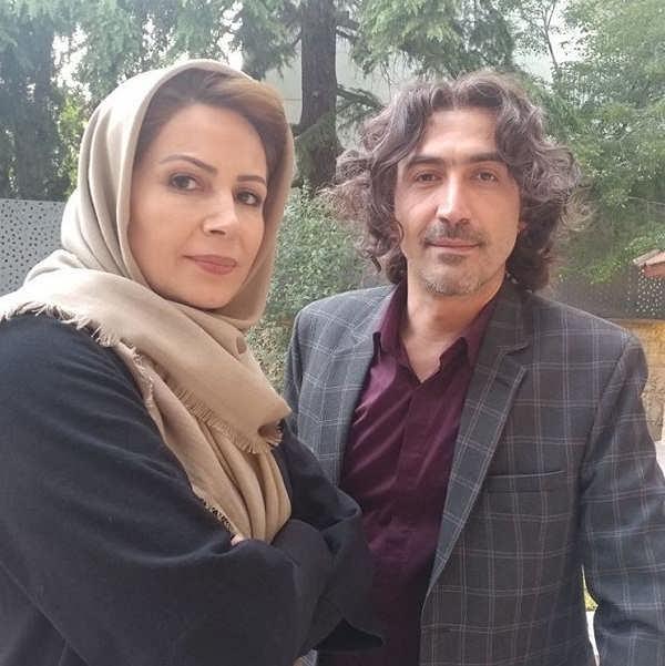 نسرین نکیسا در کنار هادی حجازی فر در سریال ممنوعه