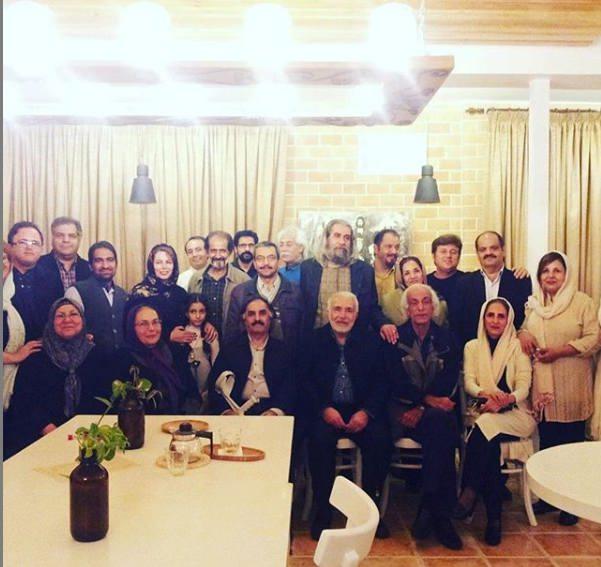 نسرین نکیسا همراه قدیمی های تاتر شیراز