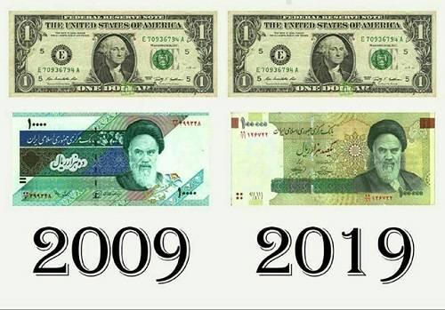 چالش عکس ده سال پیش و قیمت دلار