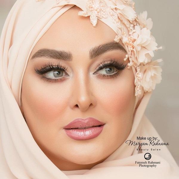 آرایش الهام حمیدی در مراسم عروسی