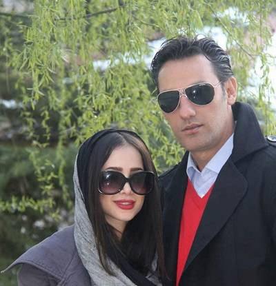 الناز حبیبی و همسر سابقش۱