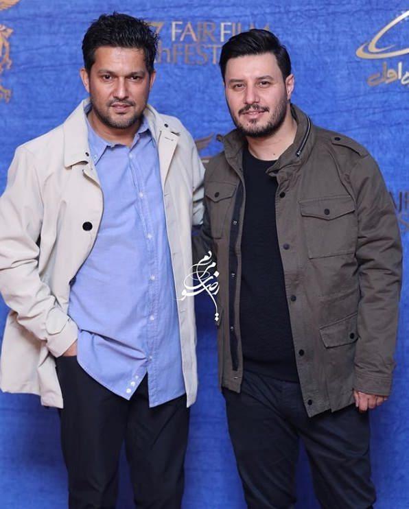 تیپ بازیگران در جشنواره فیلم فجر ۹۷ - حامد بهداد و جواد عزتی