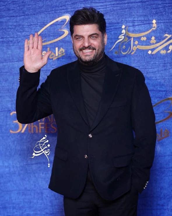 تیپ بازیگران در جشنواره فیلم فجر ۹۷ - سام درخشانی