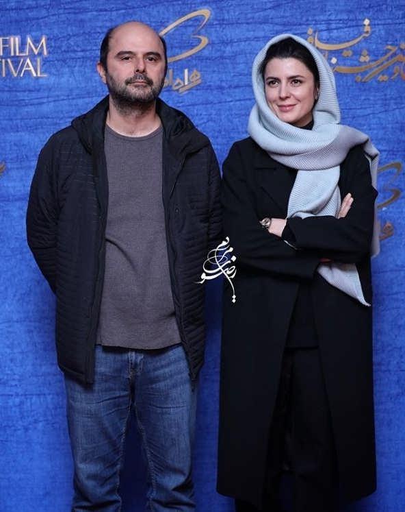 تیپ بازیگران در جشنواره فیلم فجر ۹۷ - لیلا حاتمی و همسرش علی مصفا