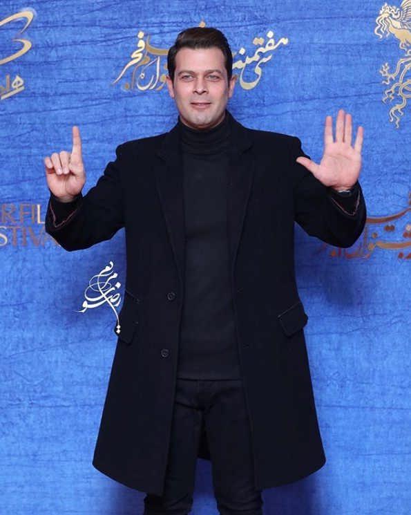تیپ بازیگران در جشنواره فیلم فجر ۹۷ - پژمان بازغی