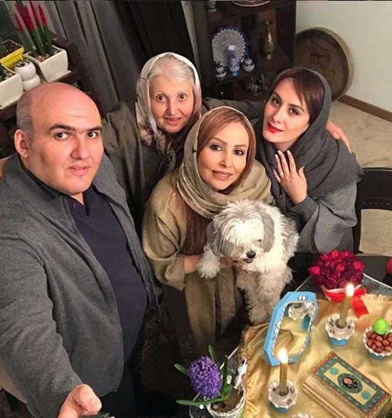 عکس خانواده پرستو صالحی