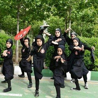 دختران نینجا شرکت کننده مسابقه عصر جدید