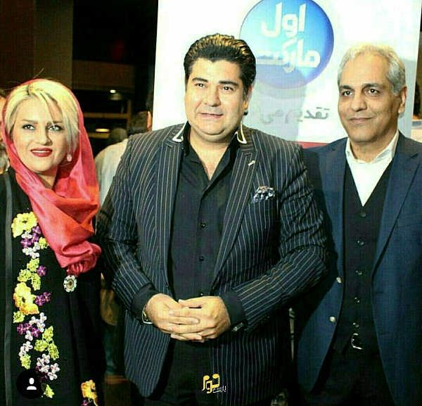 سالار عقیلی و همسرش در رونمایی فیلم مهران مدیری