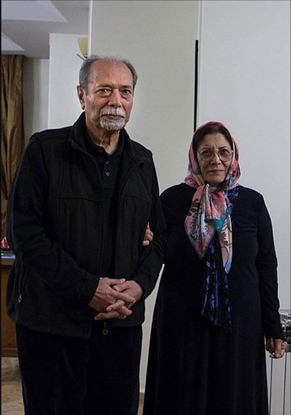 علی نصیریان و همسر مرحومش فاطمه بیات