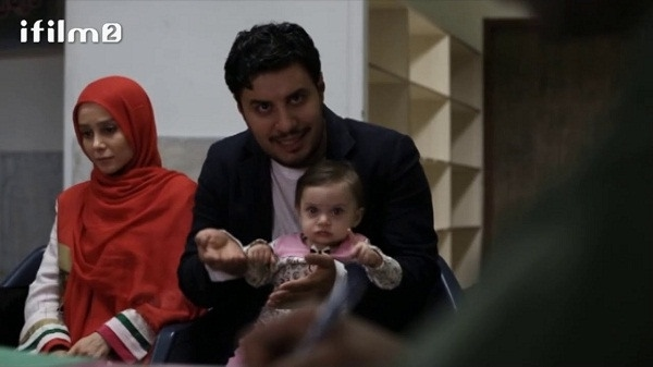 عکس بازیگران سریال دردسرهای عظیم - الناز حبیبی و جواد عزتی