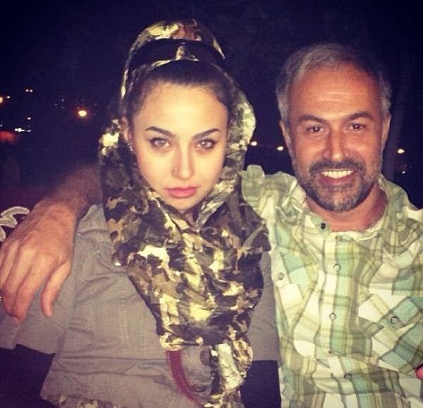 عکس دانیال حکیمی و دخترش دایانا حکیمی۳