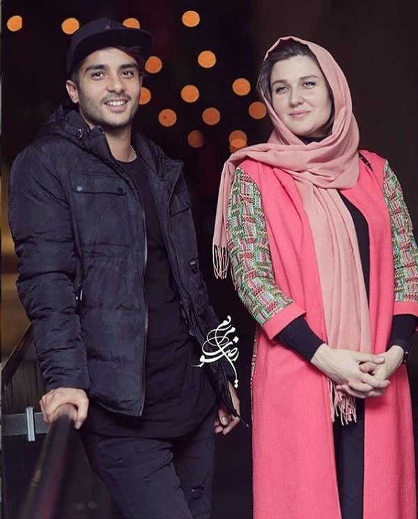 عکس ساعد سهیلی و همسرش گلوریا هاردی