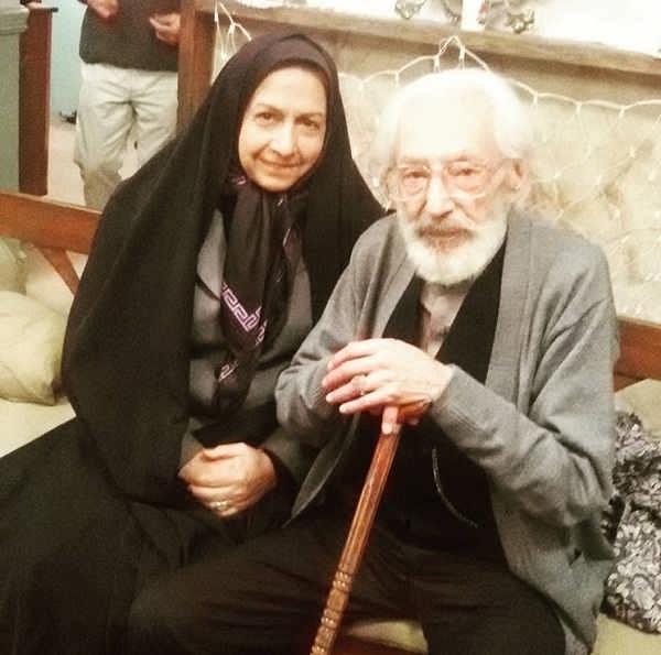 عکس سعیده عرب در کنار استاد جمشید مشایخی