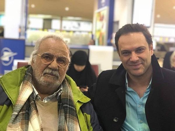 عکس شهروز ابراهیمی در کنار استاد ملک مطیعی۲