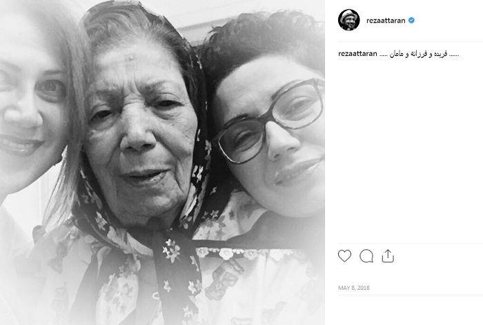 عکس فریده فرامرزی و خواهرش فرزانه در کنار مادر مرحومشان