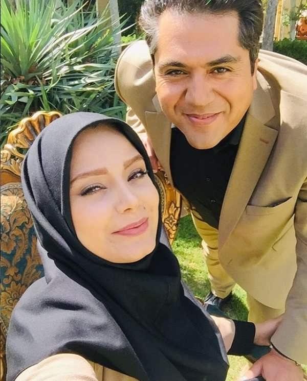 عکس مانی رهنما و همسرش صبا راد