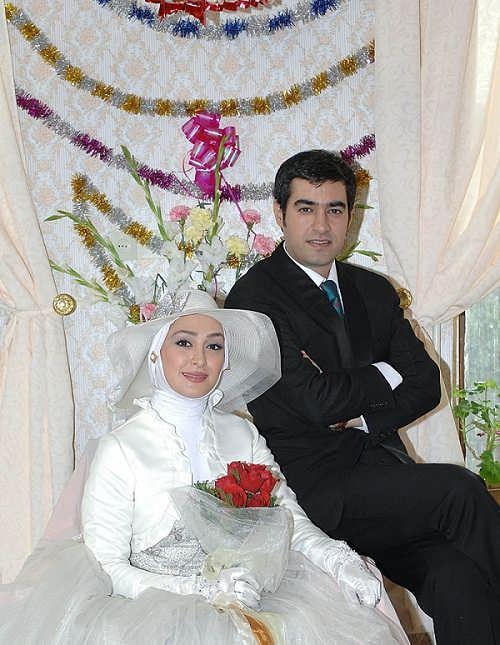 عکس مراسم ازدواج الهام حمیدی و شهاب حسینی در سریال شوق پرواز