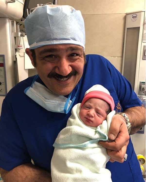 عکس مهران غفوریان و دخترش هانا