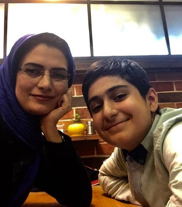 عکس مهسا ملک مرزبان و پسرش علی شکیبا