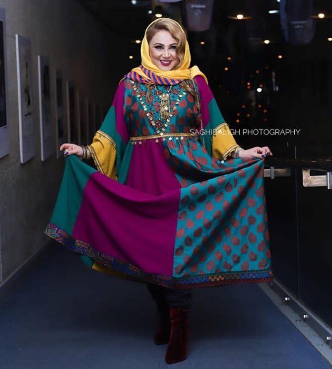 مدل مانتو بازیگران در جشنواره فجر ۹۷ - بهنوش بختیاری۳
