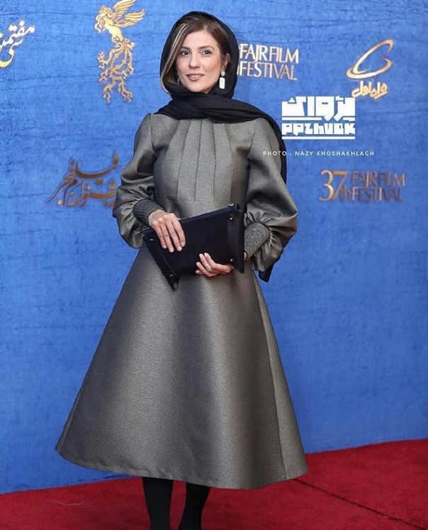 مدل مانتو بازیگران در جشنواره فجر ۹۷ - سارا بهرامی