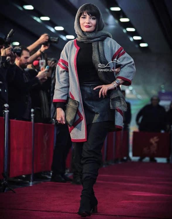 مدل مانتو بازیگران در جشنواره فجر ۹۷ - لیندا کیانی