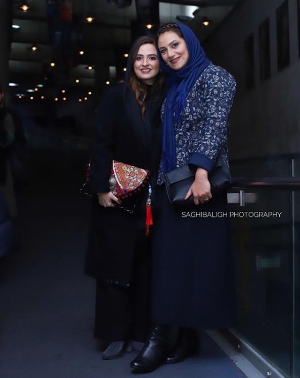 مدل مانتو بازیگران در جشنواره فجر ۹۷ - گلاره عباسی و شبنم مقدمی