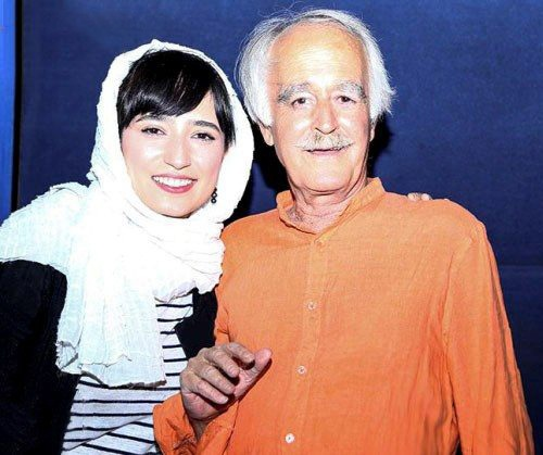 عکس نگار جواهریان و پدرش
