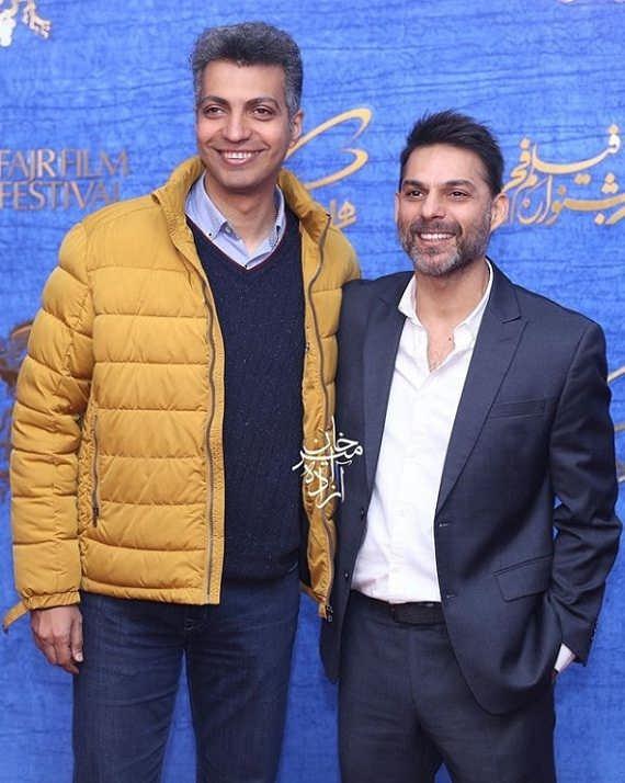 پیمان معادی و عادل فردوسی پور در اکران فیلم متری شیش و نیم
