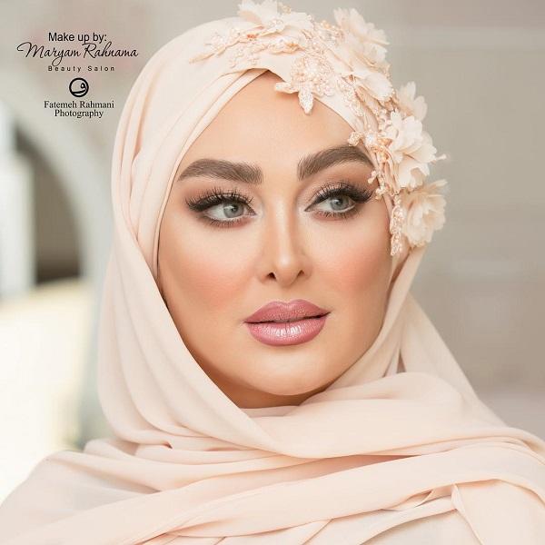 چهره آرایش شده الهام حمیدی در مراسم ازدواجش