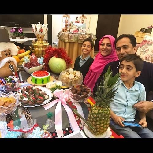 داود عابدی شب یلدا در کنار خانواده