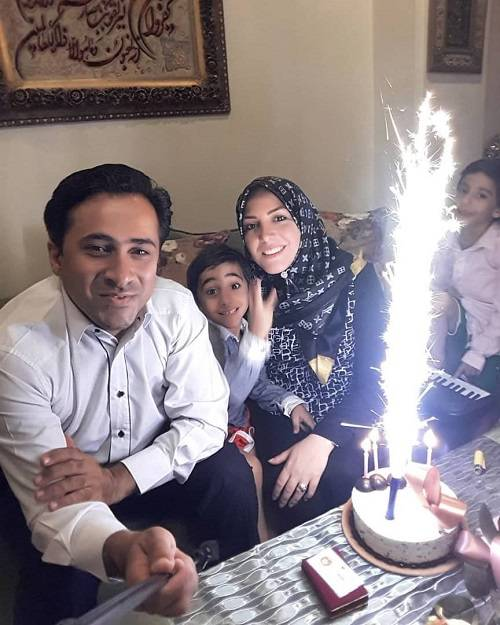 جشن تولد داود عابدی در کنار المیرا شریفی مقدم