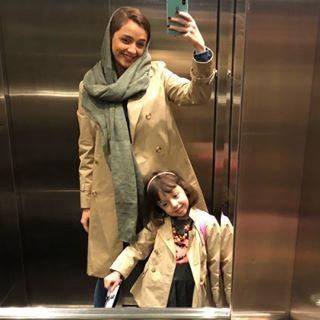 عکس ترانه علیدوستی و دخترش حنا