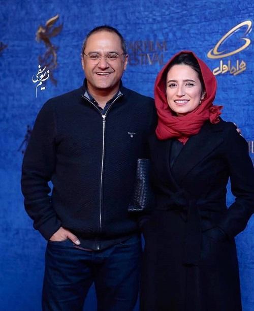 نگار جواهریان و رامبد جوان در فرش قرمز فیلم طلا در جشنواره فیلم فجر