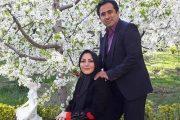 بیوگرافی داود عابدی مجری و گوینده تلویزیون و همسرش المیرا شریفی مقدم