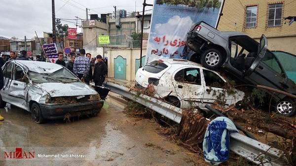 سیل امروز ۵ فروردین شیراز