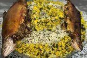 طرز تهیه سبزی پلو با ماهی شکم پر گیلانی
