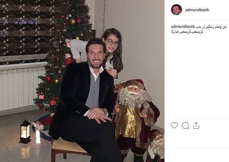 عکس ادموند بزیک و دخترش