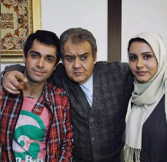 عکس اشکان اشتیاق در کنار اکبر عبدی و دخترش المیرا عبدی