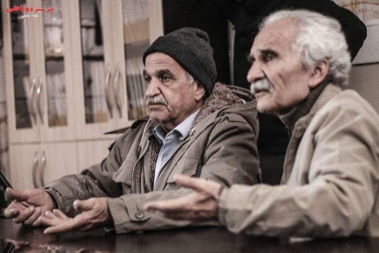 عکس بازیگران سریال بر سر دوراهی، اکبر رحمتی و اسماعیل پوررضا