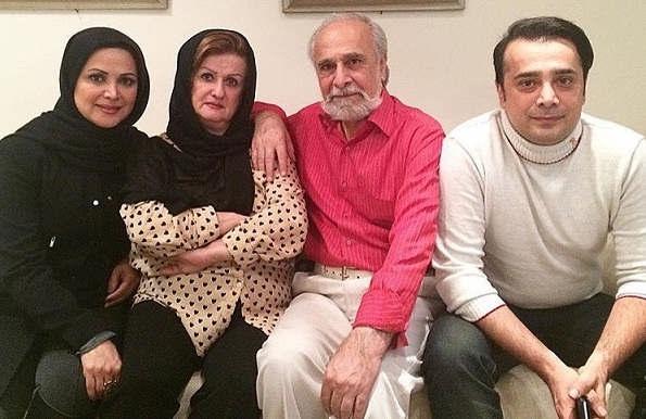 عکس سپند امیرسلیمانی و خانواده اش